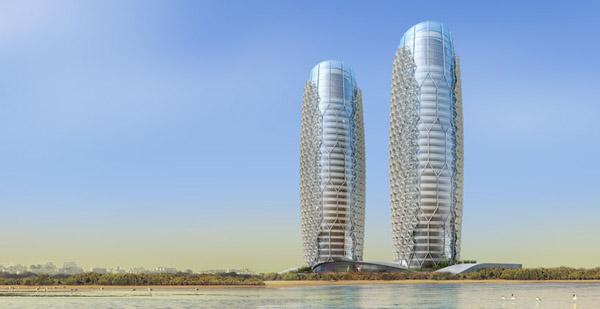 Las torres Al Bahar sistemas de sombra para rascacielos (11)