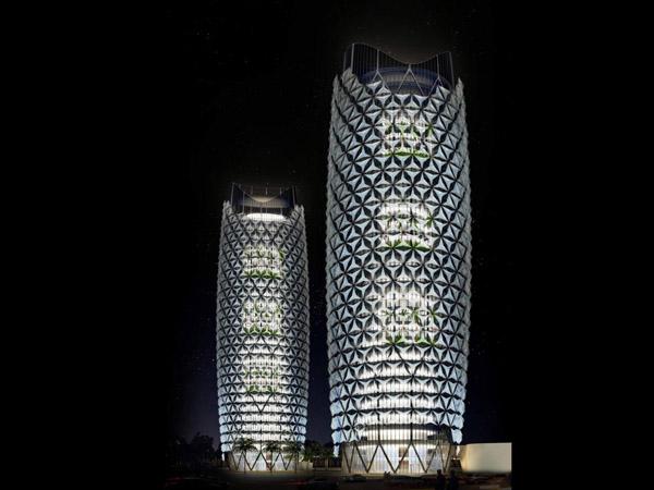 Las torres Al Bahar sistemas de sombra para rascacielos (4)