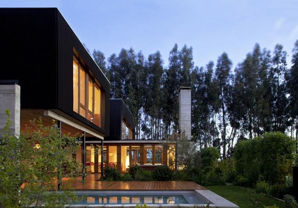 Diseño ejecutivo de casa moderna en el bosque (2)
