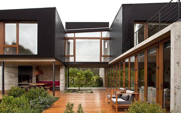Diseño ejecutivo de casa moderna en el bosque (10)
