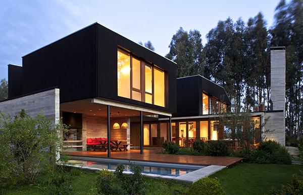 Diseño ejecutivo de casa moderna en el bosque (4)