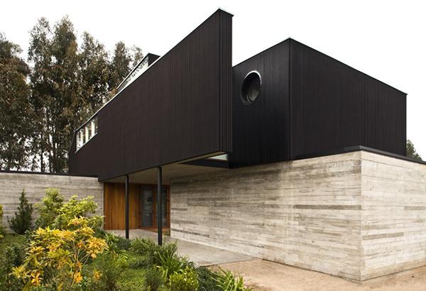 Diseño ejecutivo de casa moderna en el bosque (8)