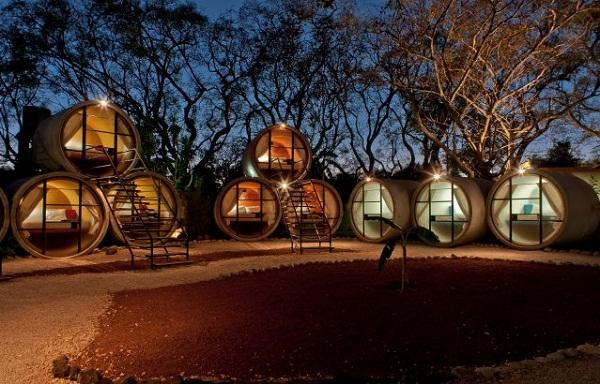 Hotel tubo en México con planos incluidos