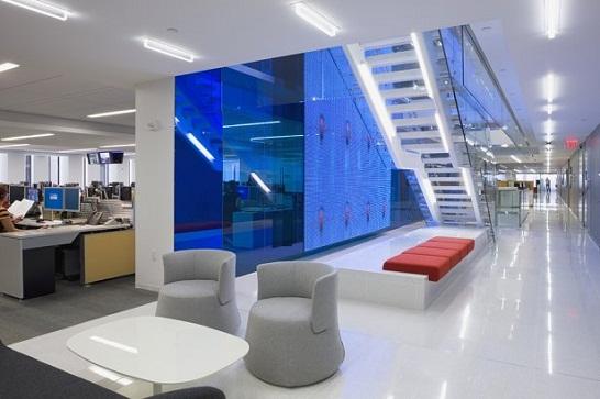 Planos del edificio DowJones pioneros en noticias e información financiera