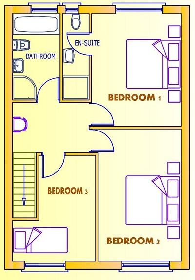 Colección de planos de casas de dos niveles