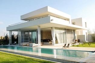 100 fotografías de casas construidas basándose en planos arquitectónicos