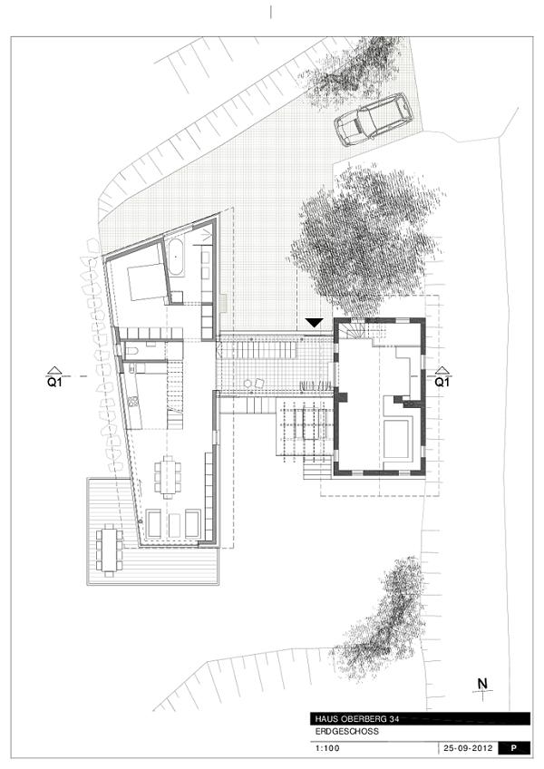 Planos de Casa tradicional Austriaca construida en el campo