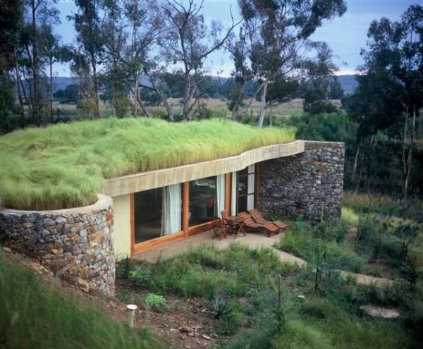 Planos de instalacion de techos organicos para casas prefabricadas