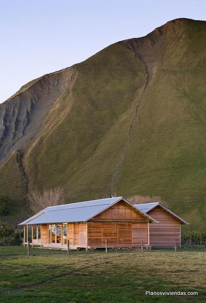 PARSONSON ARCHITECTS - Un lugar tranquilo frente a las montañas en Nueva Zelanda
