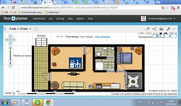 Planos de casa de 5 metros por 12 metros - medidas- Planosviviendas