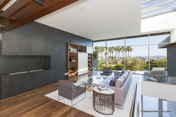 Finos detalles arquitectónicos de casa en hollywood por Belzberg Arquitectos