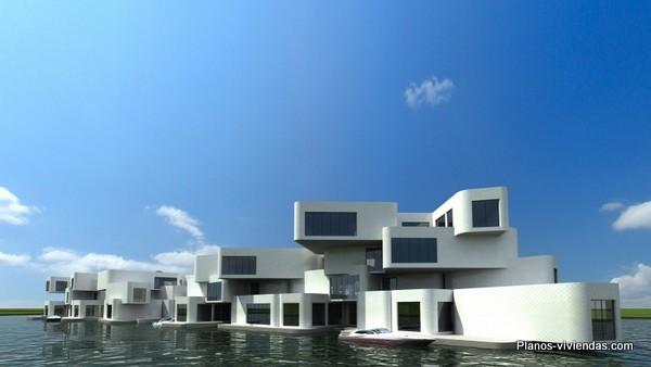 Diseño de primer complejo de apartamentos flotantes en el mundo