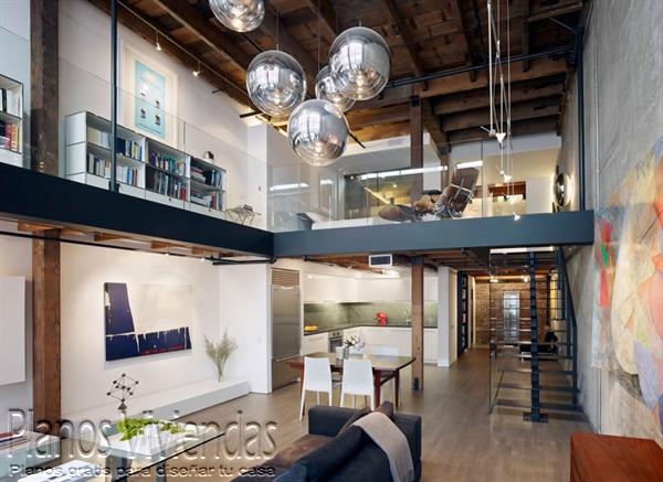 Mezzanine moderno en ambiente azulado (2)