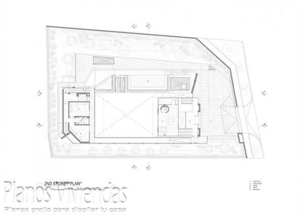 Construcción de casa moderna sobre terreno ondulado en Singapur (17)