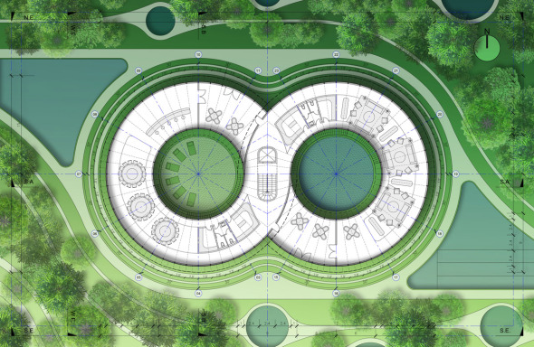 Bioclimática - eco villa en China (12)