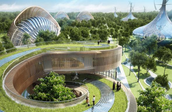 Bioclimática - eco villa en China (15)