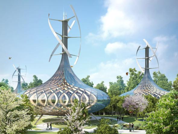Bioclimática - eco villa en China (3)