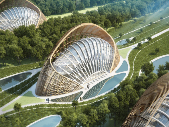 Bioclimática - eco villa en China (4)