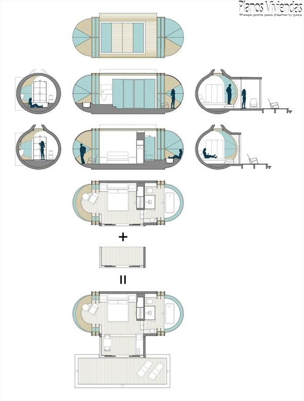DROP XL de In-tenta es una casa autosostenible que promete mejorar el ecoturismo
