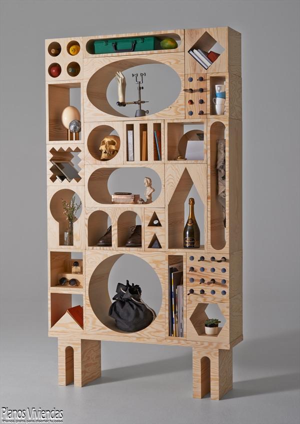 Diseño de mueblería con una fuerte influencia geométrica