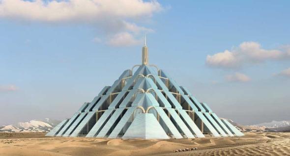 Ciudades piramidales hechas con carbono neutro en Dubai