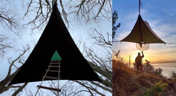 Modelos de casas colgantes para acampar