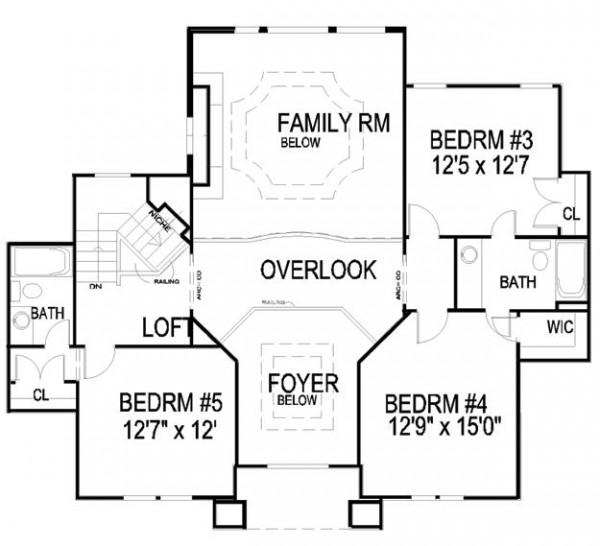 Plano de la segunda planta de la casa