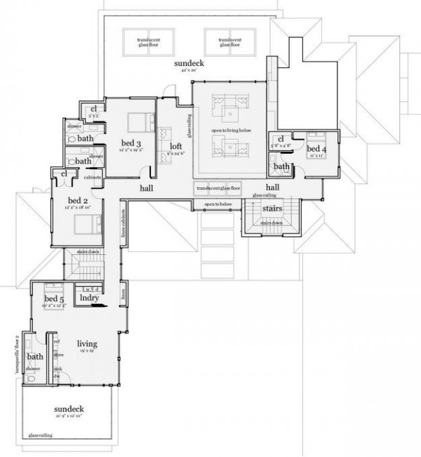 El plano del segundo piso