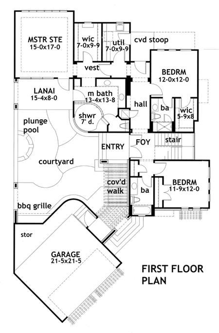 Este es el plano de la primera planta