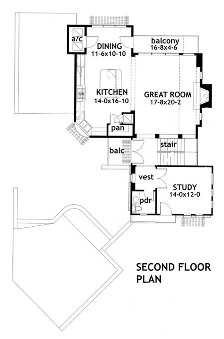 Este es el plano de la segunda planta
