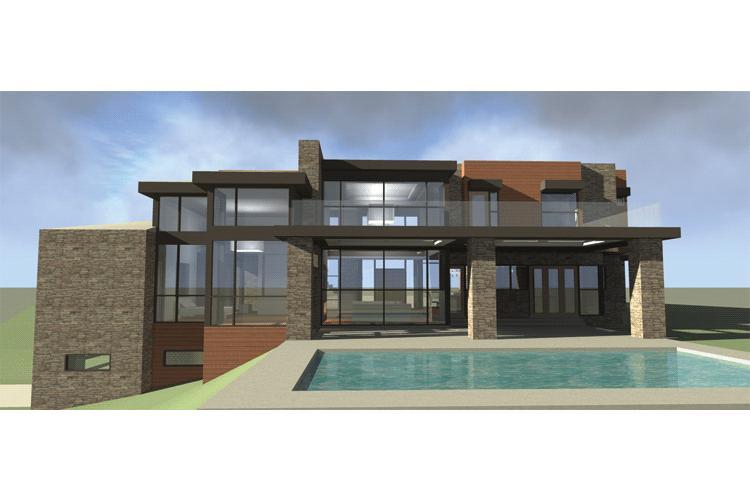 Planos de casa estilo moderno de 1574 m2
