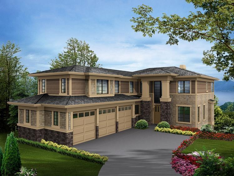 Planos de casa estilo contemporáneo de 1500 m²