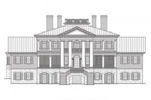 plano dibujado de la casa