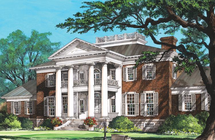 Planos de casa estilo  colonial de 1000 m²