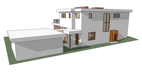 El diseño de perfil de la casa
