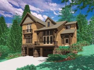 Una casa de madera bien fabricada