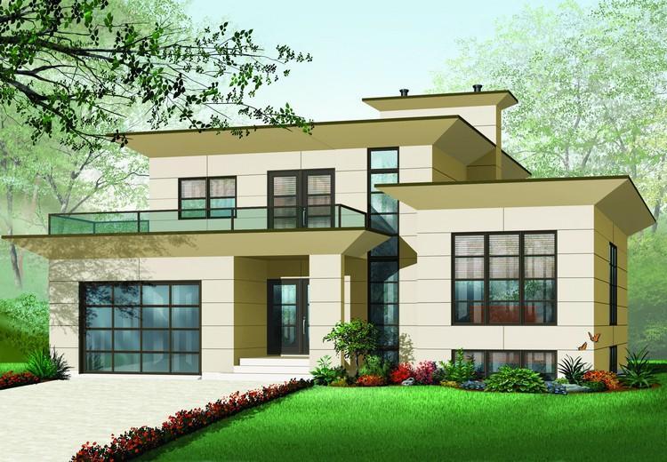 Planos de casa estilo moderno de 297 m2