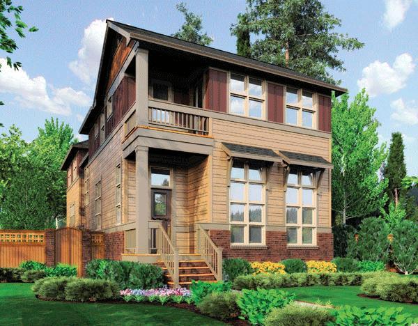 Planos de casa estilo contemporáneo de 196 metros cuadrados