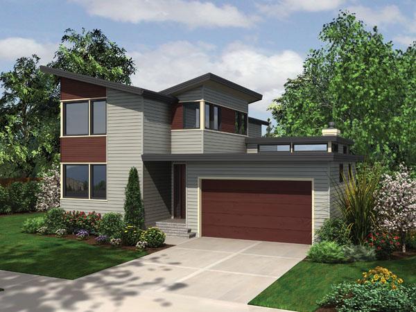 Planos de casa estilo contemporáneo de 190 metros cuadrados