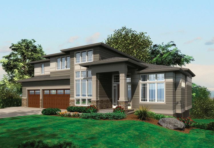 Planos de casa estilo contemporáneo de 453 m2