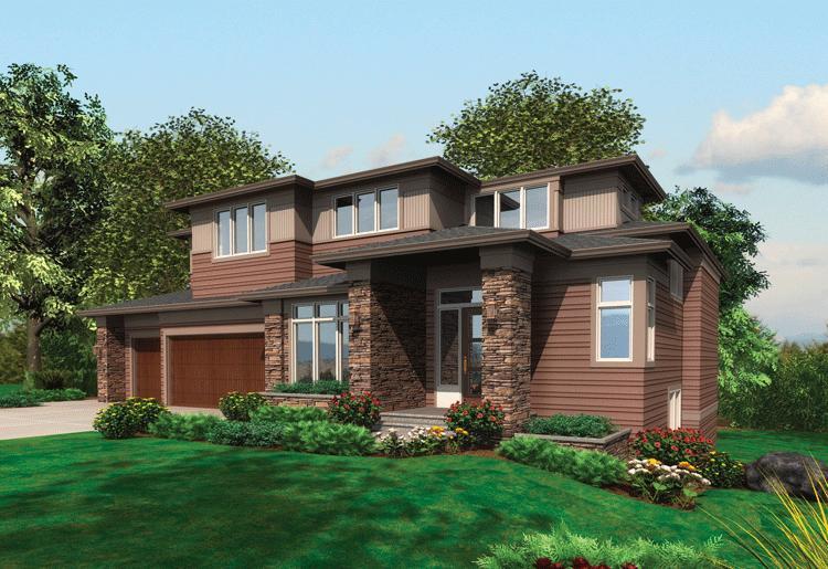 Planos de casa estilo contemporáneo de 444 metros cuadrados