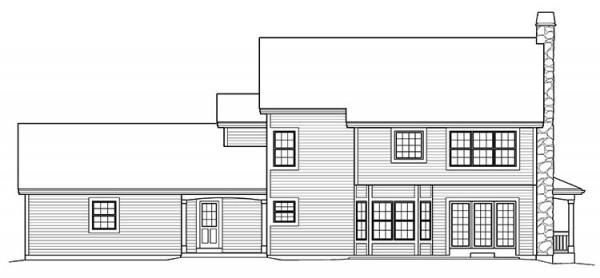 dibujo de la perfil de la casa