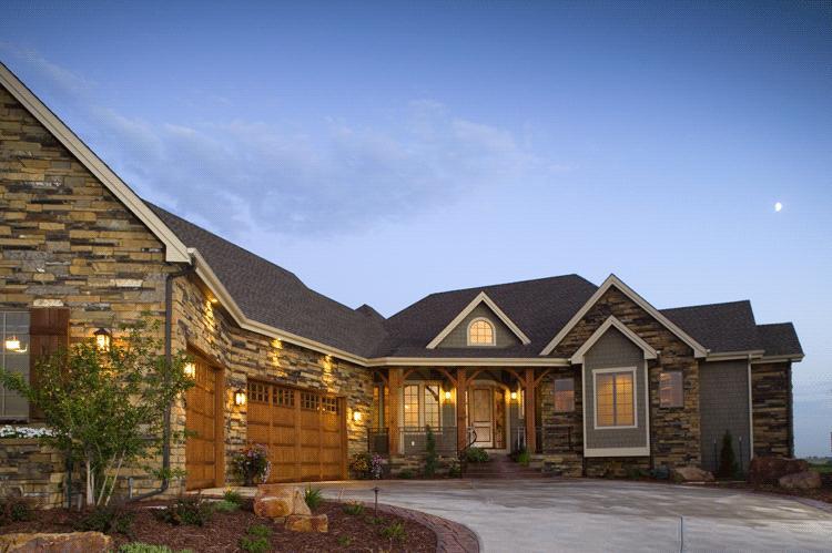 Planos de casa estilo Country de  516 metros cuadrados