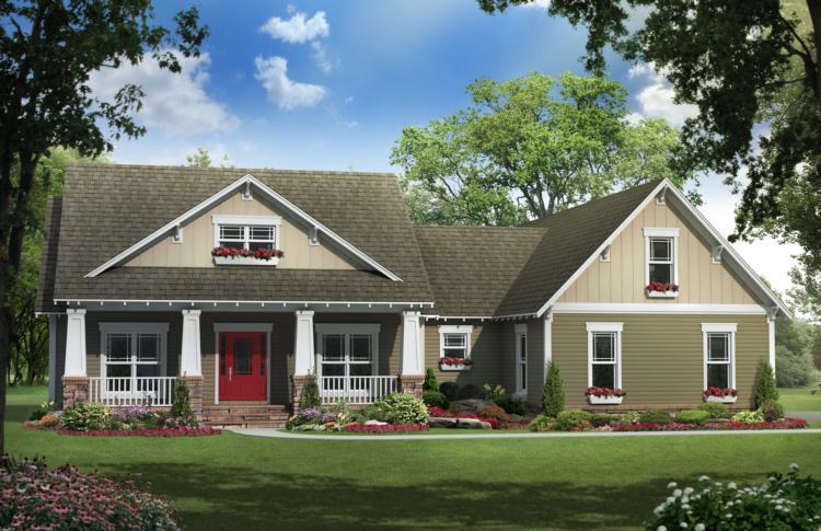 Planos de vivienda estilo Country de 178 metros cuadrados