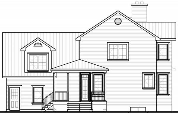 Plano sencillo de la fachada