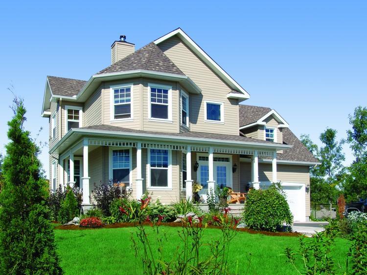 Planos de casa estilo Country de 171 metros cuadrados