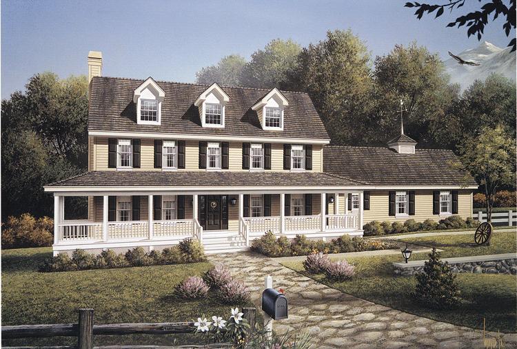 Planos de casa estilo country de 253 metro cuadrados