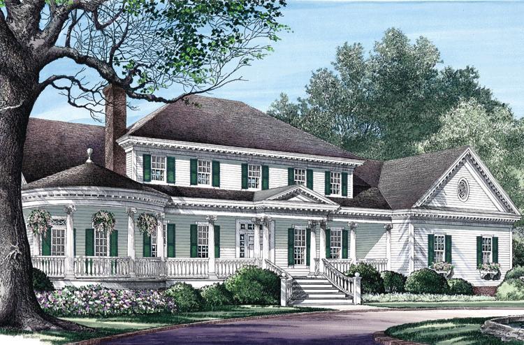 Planos de casa estilo country de 346 metros cuadrados