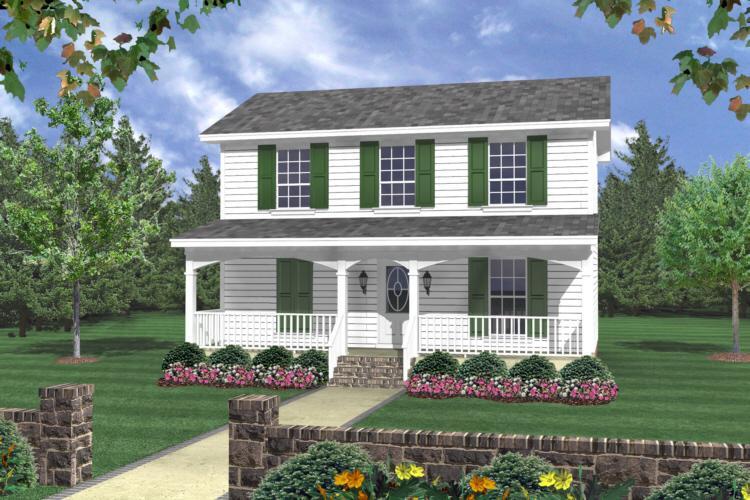 Planos de casa estilo country de 111 metros cuadrados