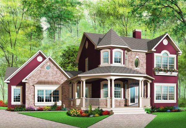 Fachada completa de la casa